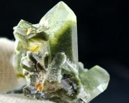 200 CT Natural - Unheated  Green Chlorine Quartz Crystal Specimen