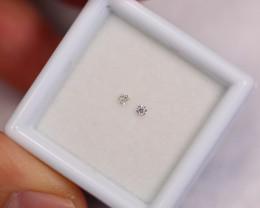 1.7mm Natural D-F Colour VS Loose Diamond 2pcs AA138