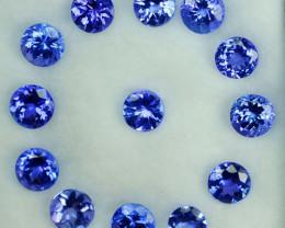5.51Ct Natural Purple Blue Tanzanite Oval 4.50 X 2.50mm Parcel