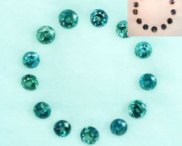 0.65Cts Natural Alexandrite Round 2.00mm Parcel