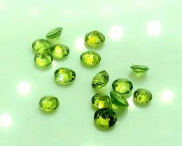 2.34 Crt Natural Demantoid Parcels Faceted Gemstone.( AG 41)