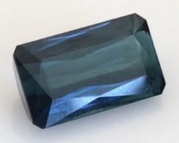 Pretty Blue 7.10ct Emerald cut Indicolite Tourmaline -G547