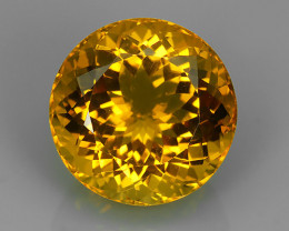 19.55 CTS DAZZLING TOP NATURAL GOLDEN YELLOW CITRINE 17.30MM BRAZIL NR!!!