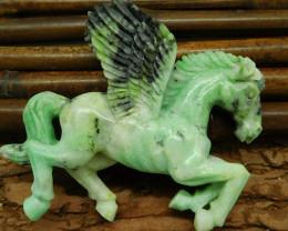 Natural gemstone carving pegasus decoration flying horse decoration
