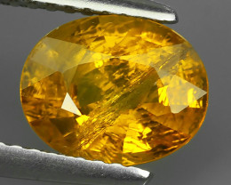 2.10 Cts Natural Intense Beautiful~Yellow Sapphire Oval Madagascar!!