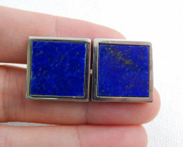 Mens Cufflinks,  Silver Cufflinks ,Gemstone accessories, Lapis Lazuli Cuffl