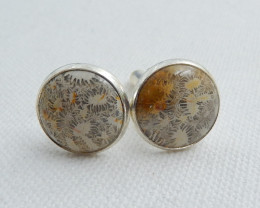 Mens Cufflinks, 925 Silver Cufflinks ,Gemstone accessories, Indonesia's cor