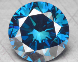 0.45 Cts Fancy Vivid Blue Color Natural Loose Diamond