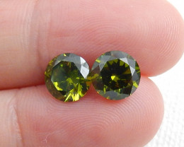 4.5ct Hot Sale Natural Faceted Peridot Gemstone Rough C474