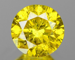 0.50 Cts Fancy Vivid Greenish yellow Color Natural Loose Diamond
