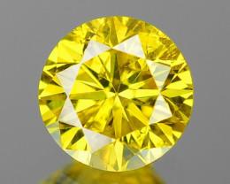0.45 Cts Fancy Vivid Greenish yellow Color Natural Loose Diamond