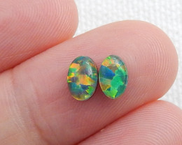 Amazing Natural Fire Opal Cabochon Pairs ,Opal For Jewelry Making C476
