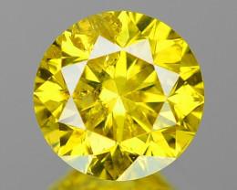 0.48 Cts Fancy Vivid Greenish yellow Color Natural Loose Diamond