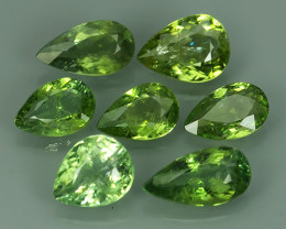 4.35 Cts GORGEOUS RARE  COPPER GREEN TOURMAILNE NATURAL  7PCS
