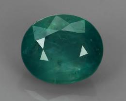 1.60 Cts World's Rarest Gem Oval Natural Green Grandidierite Wonderful!