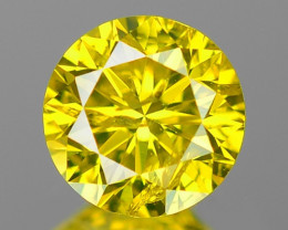 0.44 Cts Fancy Vivid Greenish yellow Color Natural Loose Diamond