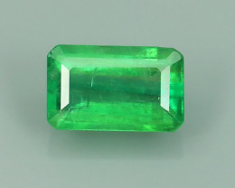 NATURAL EMERALD ZAMBIA TOP COLOR OCTOGON