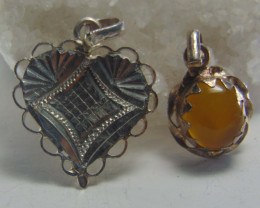 Crafted solid silver jewellery pendent 27.00cts