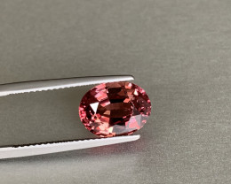 UnHeated Orange-pink-brown Sapphire - 5.60ct - Oval - Loupe Clean - Tanzani