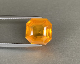 Gorgeous Octagon Cut Yellow Sapphire 9.45ct - Loupe Clean Gem - Srilanka