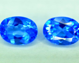 NR -2.95 Carats Pair of electric blue Color Topaz Gemstone