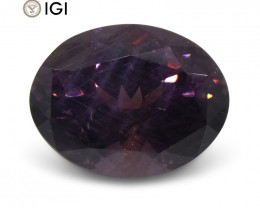 2.61 ct Purple Spinel Oval IGI Certified