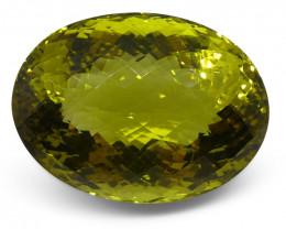 220.84 ct Lemon Citrine Oval IGI Certified