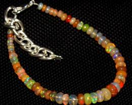 29 Crt Natural Ethiopian Welo Fire Opal Beads Bracelet 216