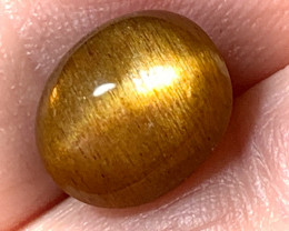 CHATOYANT GOLDEN SUNSTONE CABOCHON No reserve ~