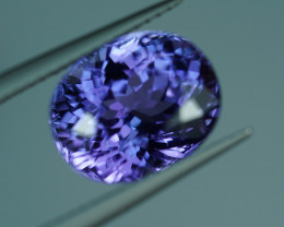 6.09CT HOT PURPLE VIOLET Super Brilliant Color NATURAL TANZANITE