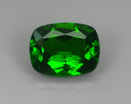 2.10 CTS ATTRACTIVE ULTRA RARE NATURAL CHROME DIOPSIDE CUSHION RUSSIA!!