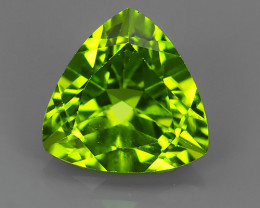 2.80 CTS LUXURY! RICH 9.10 MM TRILLION CUT GREEN PERIDOT PAKISTAN~