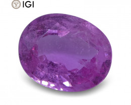 2.06 ct Pink Sapphire Oval IGI Certified