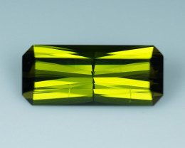 10.35 CT Electric Forest Green  Precision Cut Tourmaline