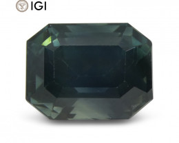 8.32 ct Sapphire Emerald Cut IGI Certified Ethiopian, Unheated