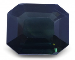 7.09 ct Sapphire Emerald Cut IGI Certified Ethiopian, Unheated