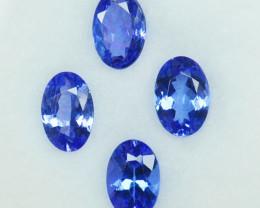 1.89Ct Natural Purple Blue Tanzanite Oval Parcel