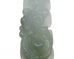 31.08 ct Jadeite Drilled Carving IGI Certified