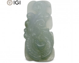 31.08 ct Jadeite Drilled Carving IGI Certified