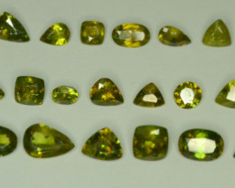 30.25 ct Chrome Sphene Lot from Himalayan Range Skardu Pakistan