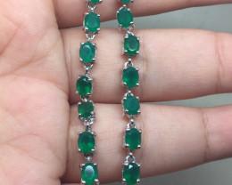 (B22) Stunning  Natural 44.0tcw. AAA Rich Green Aventurine Bracelet