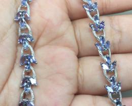 (B28) Sublime 65.5tcw. Nat Top Rich Violet Blue Tanzanite Bracelet