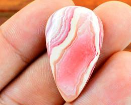 Genuine 35.00 Cts Rhodocrosite Pear Shape Cabochon