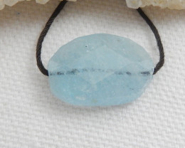 Tiny Aquamarine Pendant Bead ,Handmade Gemstone , Jewelry Making C508