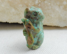 Hand Carved Squirrel Cabochon ,Turquoise Gemstone Lucky Stone C503