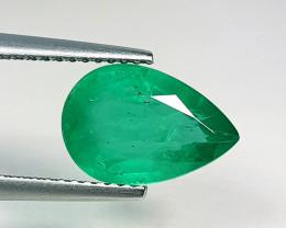 "3.15 ct "" Top Quality Gem "" Pear Cut Top Green Natural Emerald"