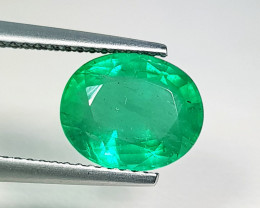 """3.00 ct """" Collective Gem """" Oval Cut Top Green Natural Emerald"""