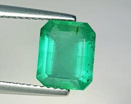 """2.15 ct """" Top Grade Gem """" Octagon Cut Top Green Natural Emerald"""