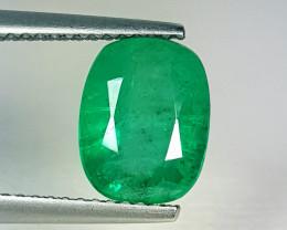 "2.45 ct "" Exclusive Gem "" Cushion Cut Top Green Natural Emerald"