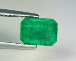 "2.15 ct "" AAA Grade Gem "" Octagon Cut Top Green Natural Emerald"